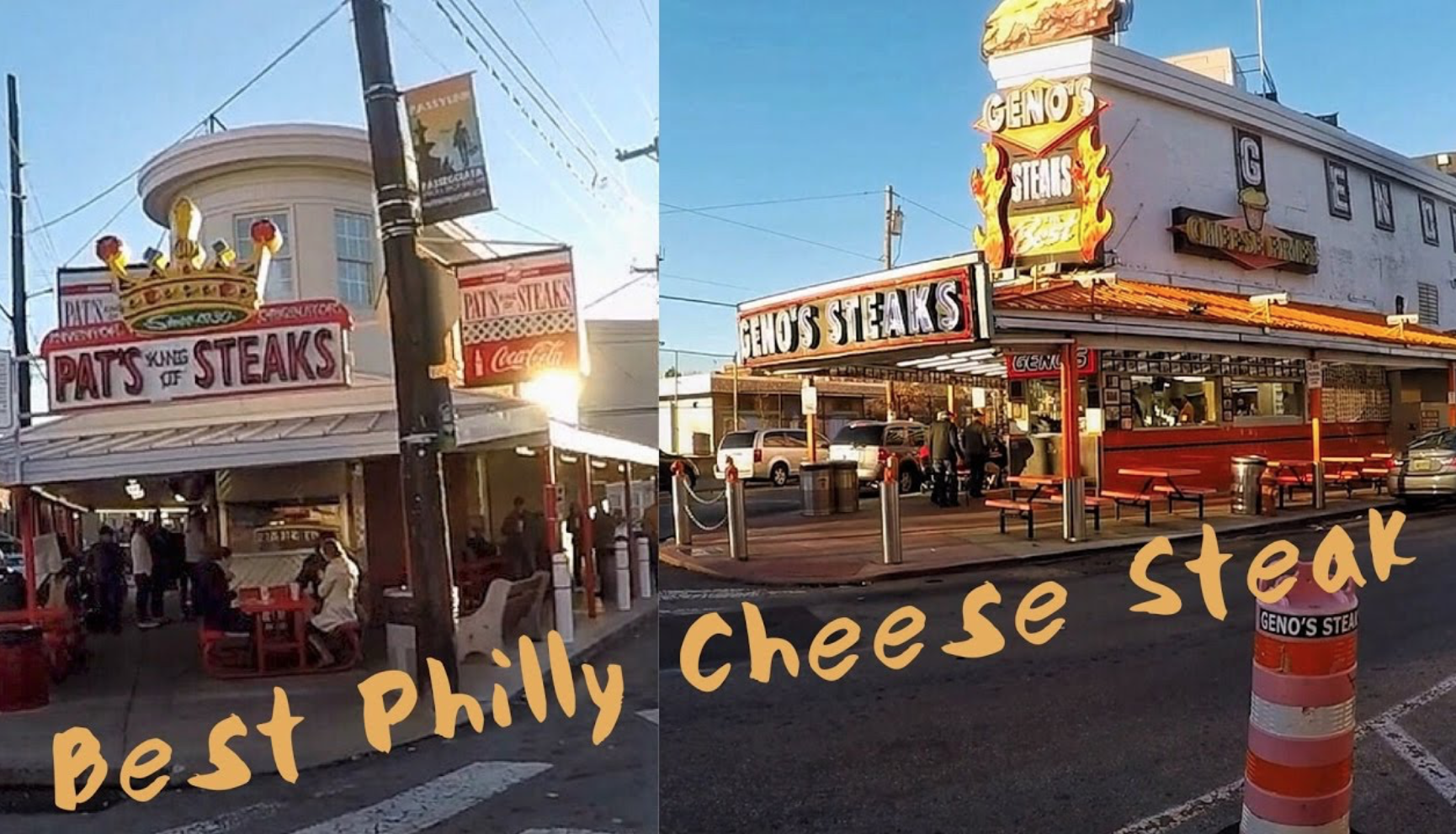 Pat's or Geno's? You decide on the Great Jersey Shore HOG cheesesteak throwdown.