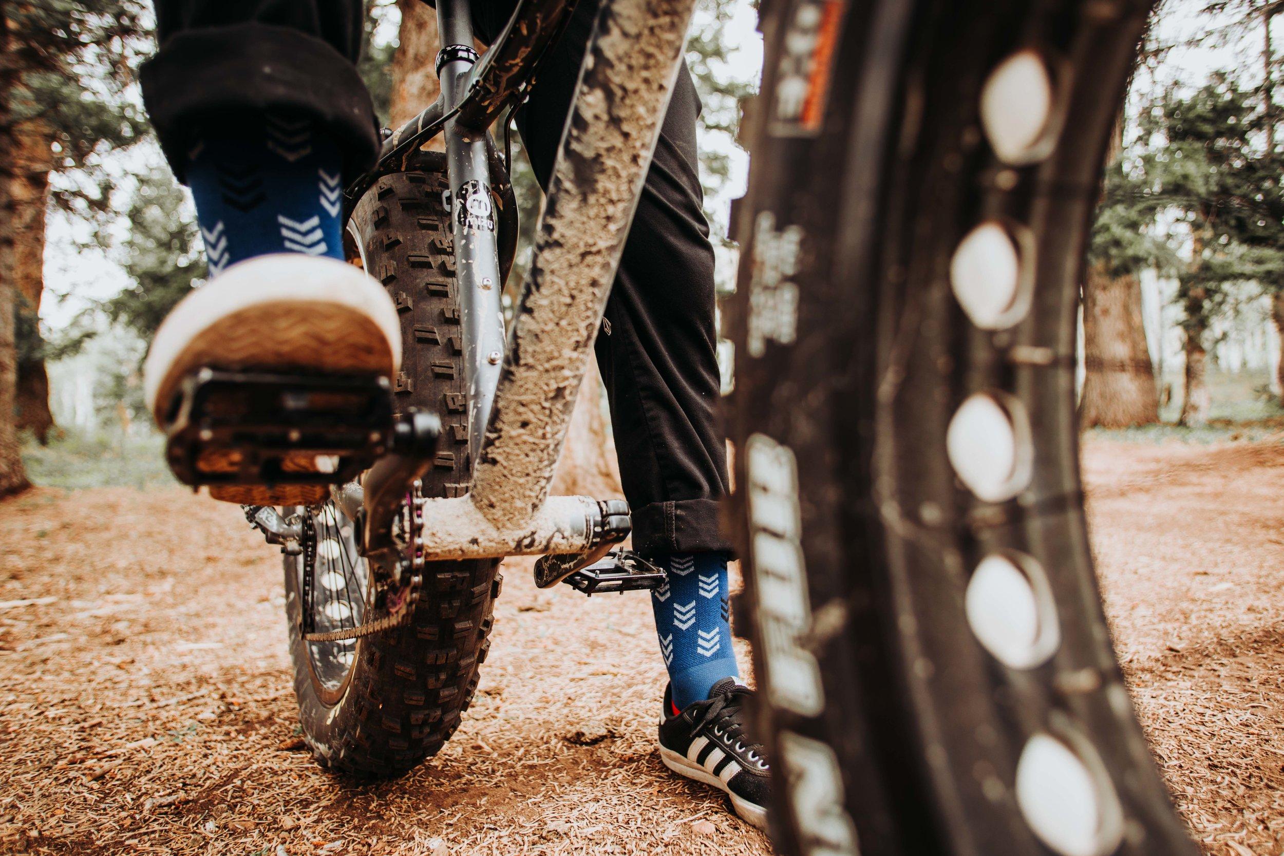 Mountain Bike - with Darn Tough Socks