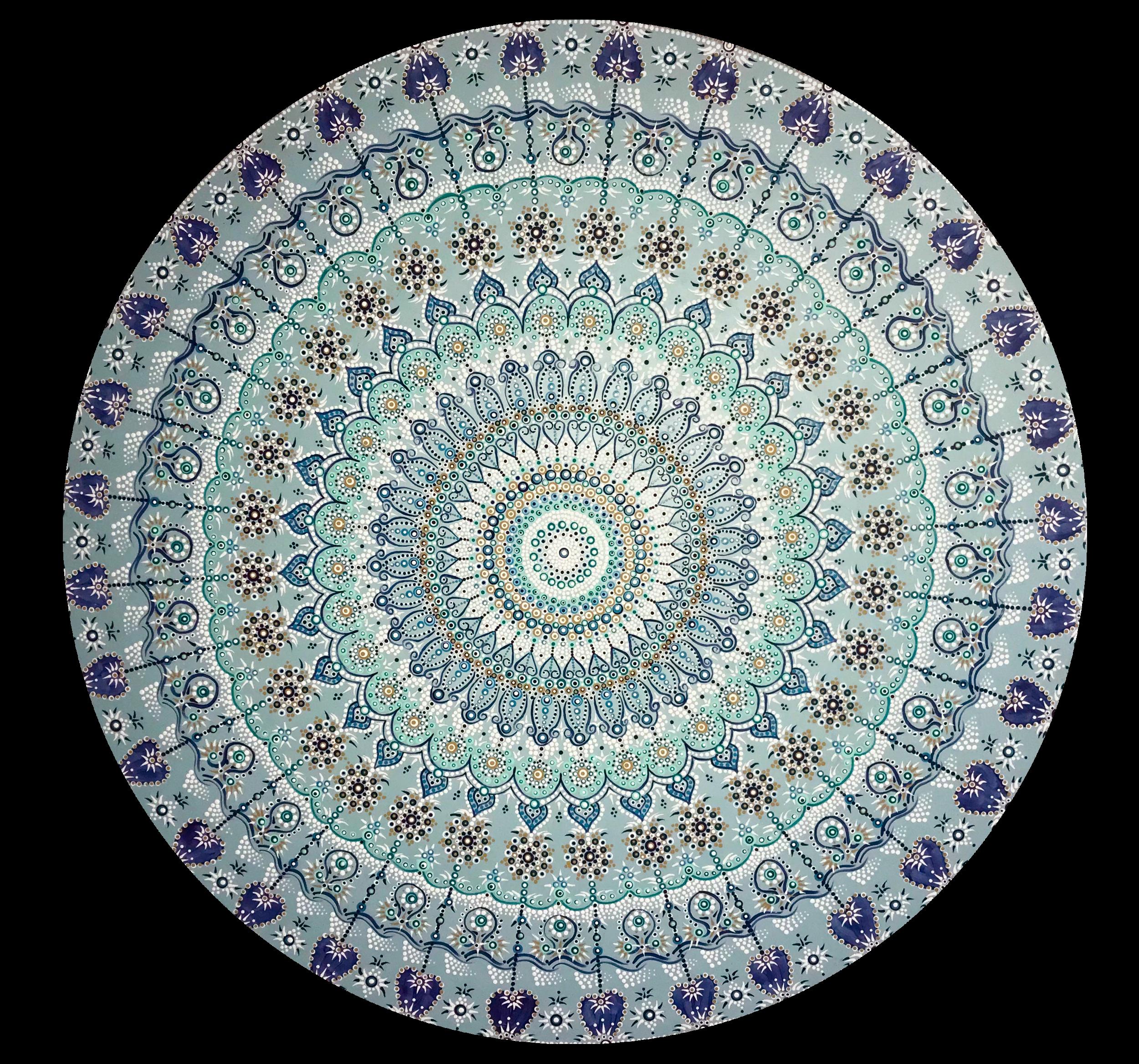 Mandala 2 - 201848 inch diameteracrylic on wood