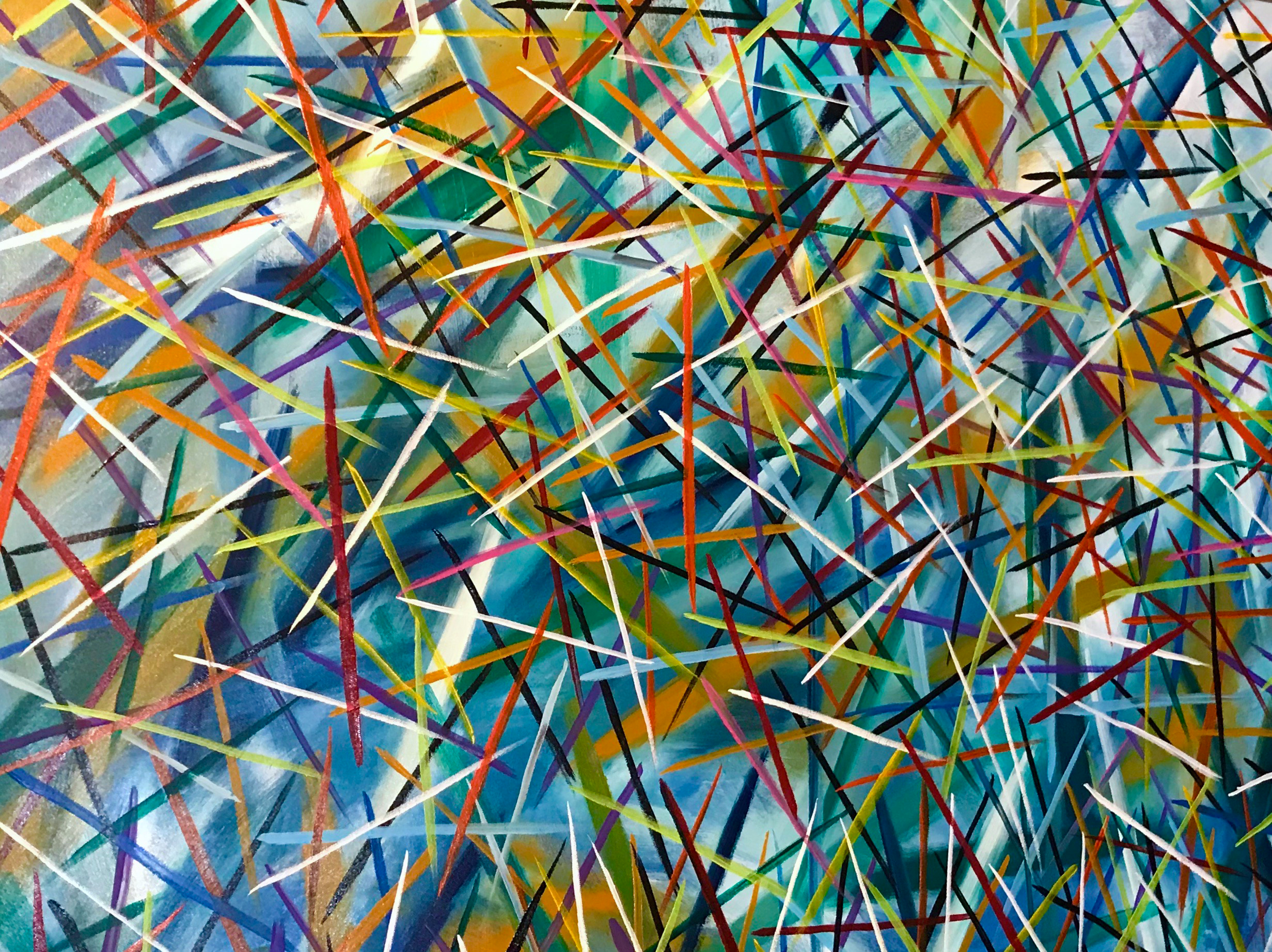 Pick Up Sticks - 201840x48 inchesacrylic on gallery-wrapped canvas