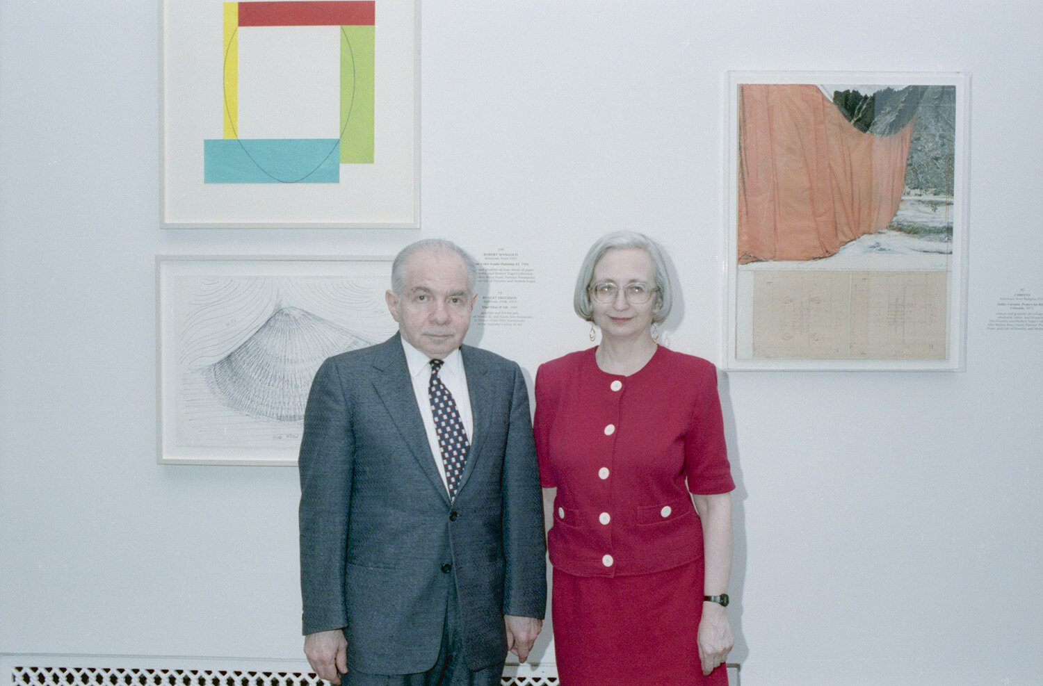 Herb and Dorothy Vogel in the National Gallery of Art print study room, 1992. National Gallery of Art, Washington, D.C., Gallery Archives