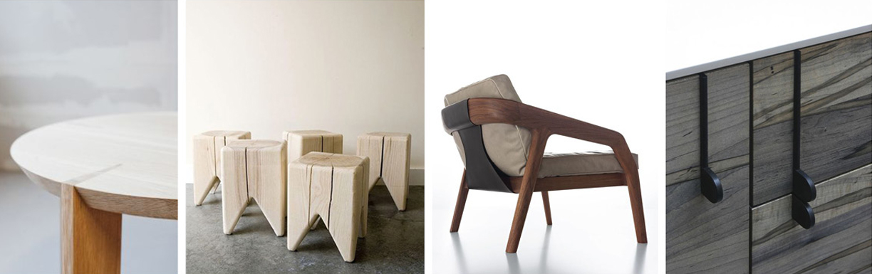 Laura Kern Design favorite sustainable, eco-friendly, luxury wood furniture - minimalist details and natural finishes.