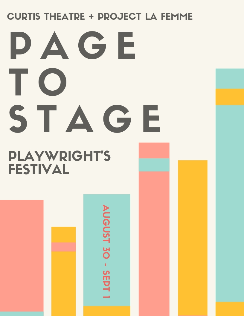 Page to Stage Playwright's Festival - Submissions of scripts are now closed but we will update audition information soon!