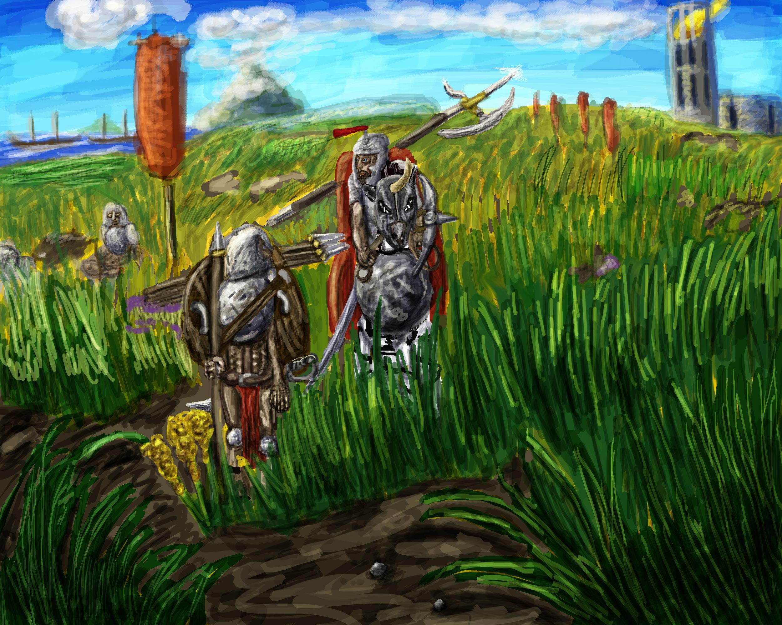 """""""Celtion Scene"""", War for Greenblood Independence, 3,041 W.H."""