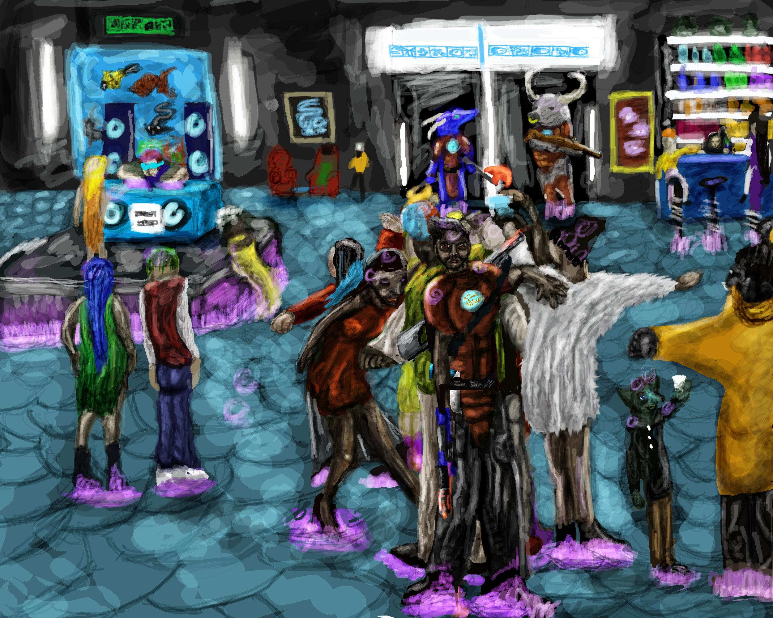 """Nightclub Rendevous"" CIC Revolution in Plesia , 3,861 W.H."