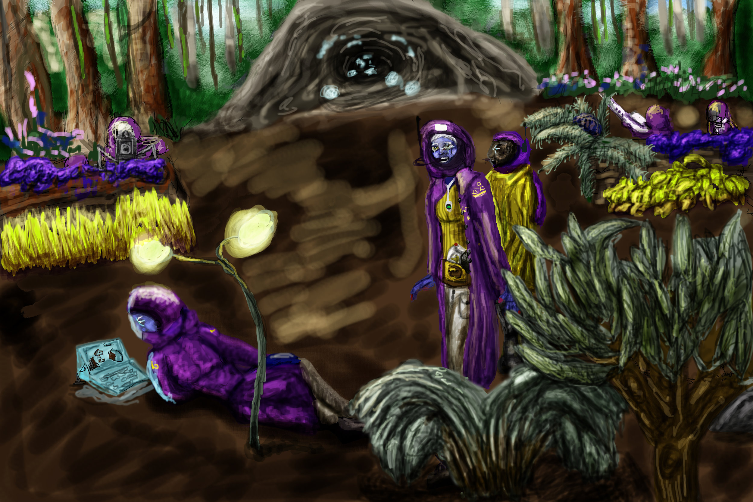 """""""Disturbance"""" a colonization party led by Dr.Scoltie Elania and Combat Advisor Orluick Marzap on the alien world of Elania II. Colonies like Elania II would find themselves cut off from resources during the World War and would struggle against each other as lawlessness ensued."""