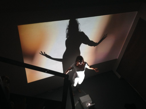'The maternal line,' still from video installation and performance, Valerie Walkerdine, as part of the exhibition 'Alternative Maternals', Lindner Project Space, Berlin, 2014.