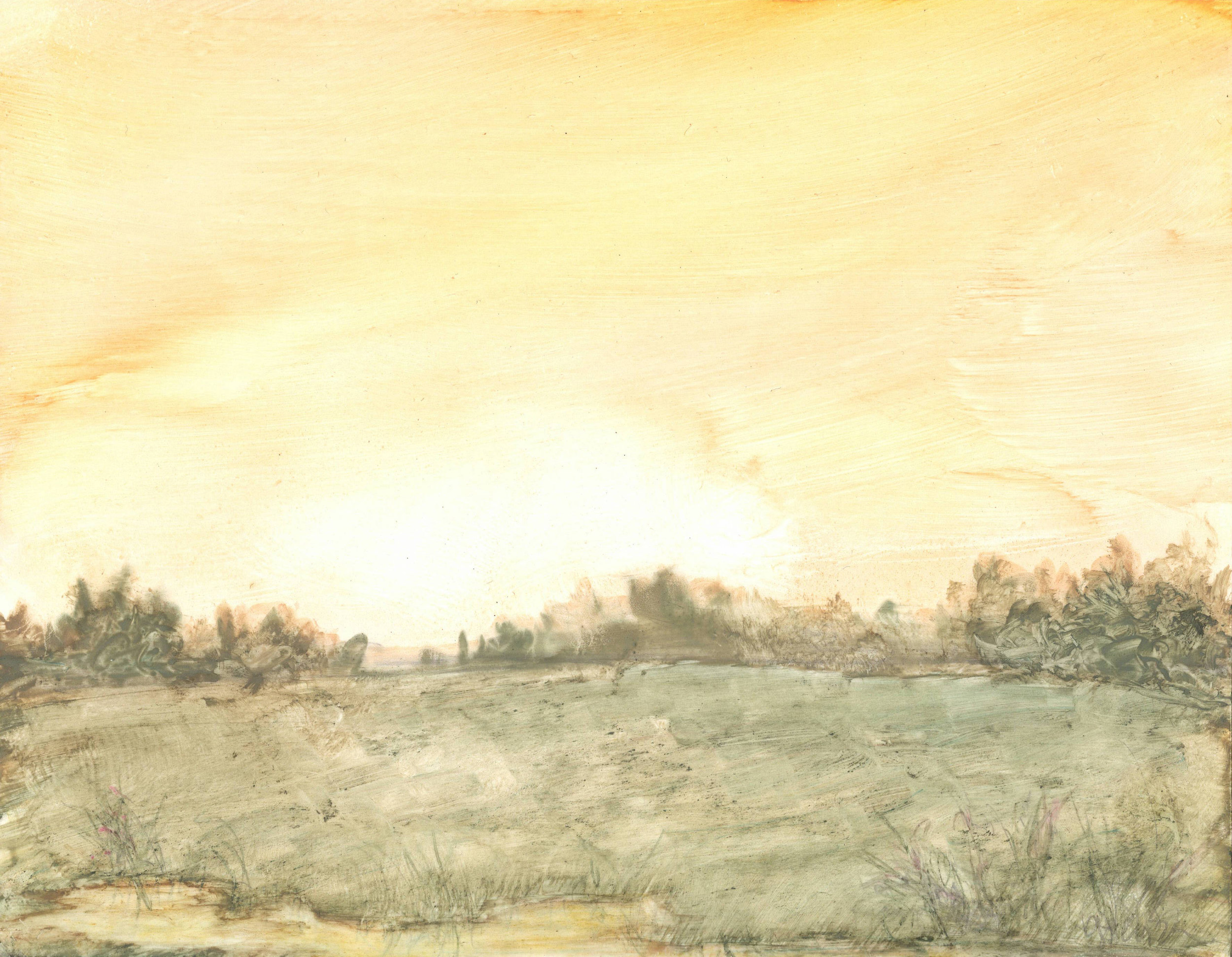 New Dawn New Day © Gabrielle Senza, 2019, watercolor, 4 1/2 x 6 inches