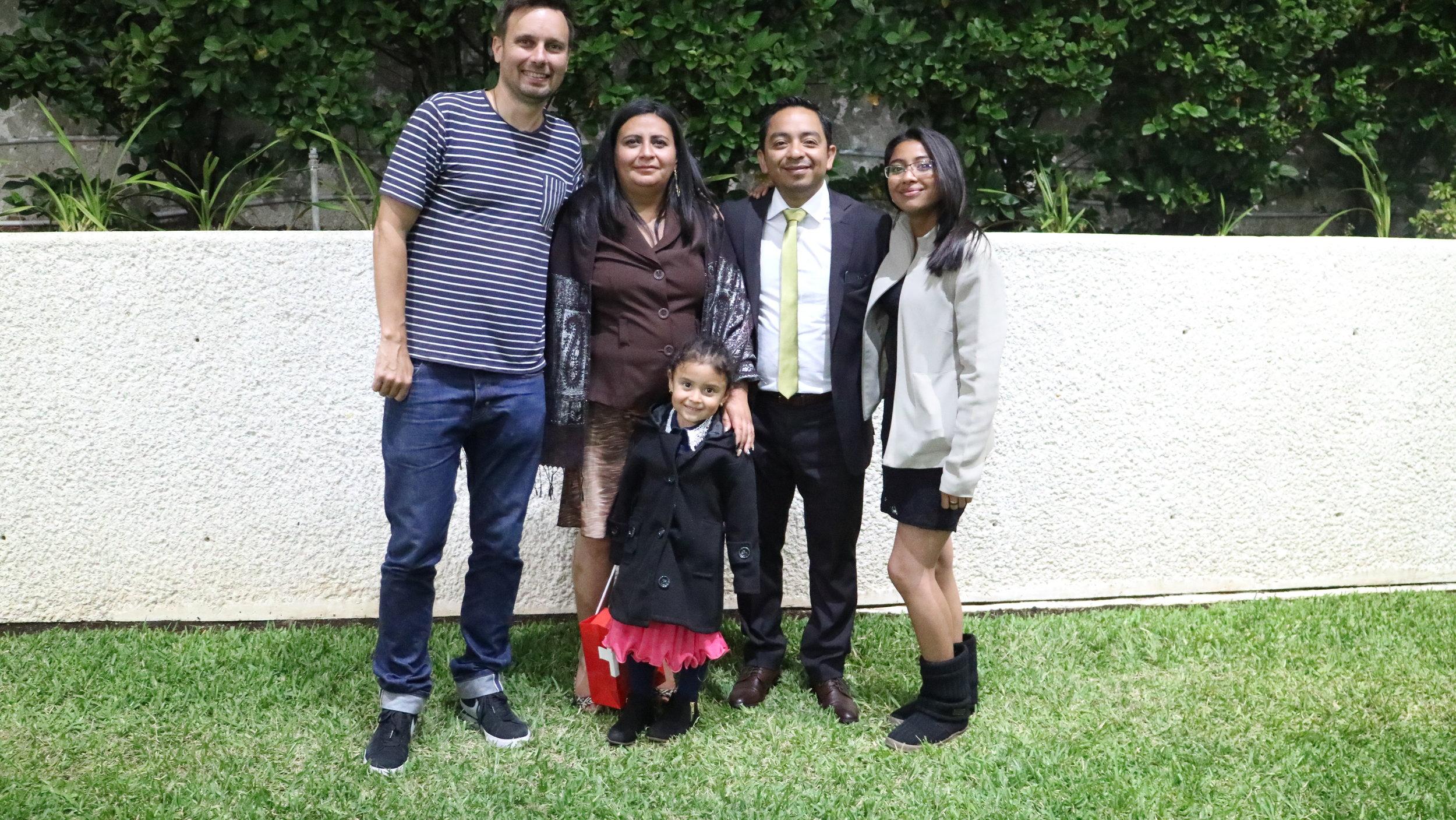 Jean-Cosme, the director of La Prenda, with Karin Gramajo Lopez, Rodolfo Diaz, Maria José Gramajo and 4-year-old Maria Fernanda Gramajo