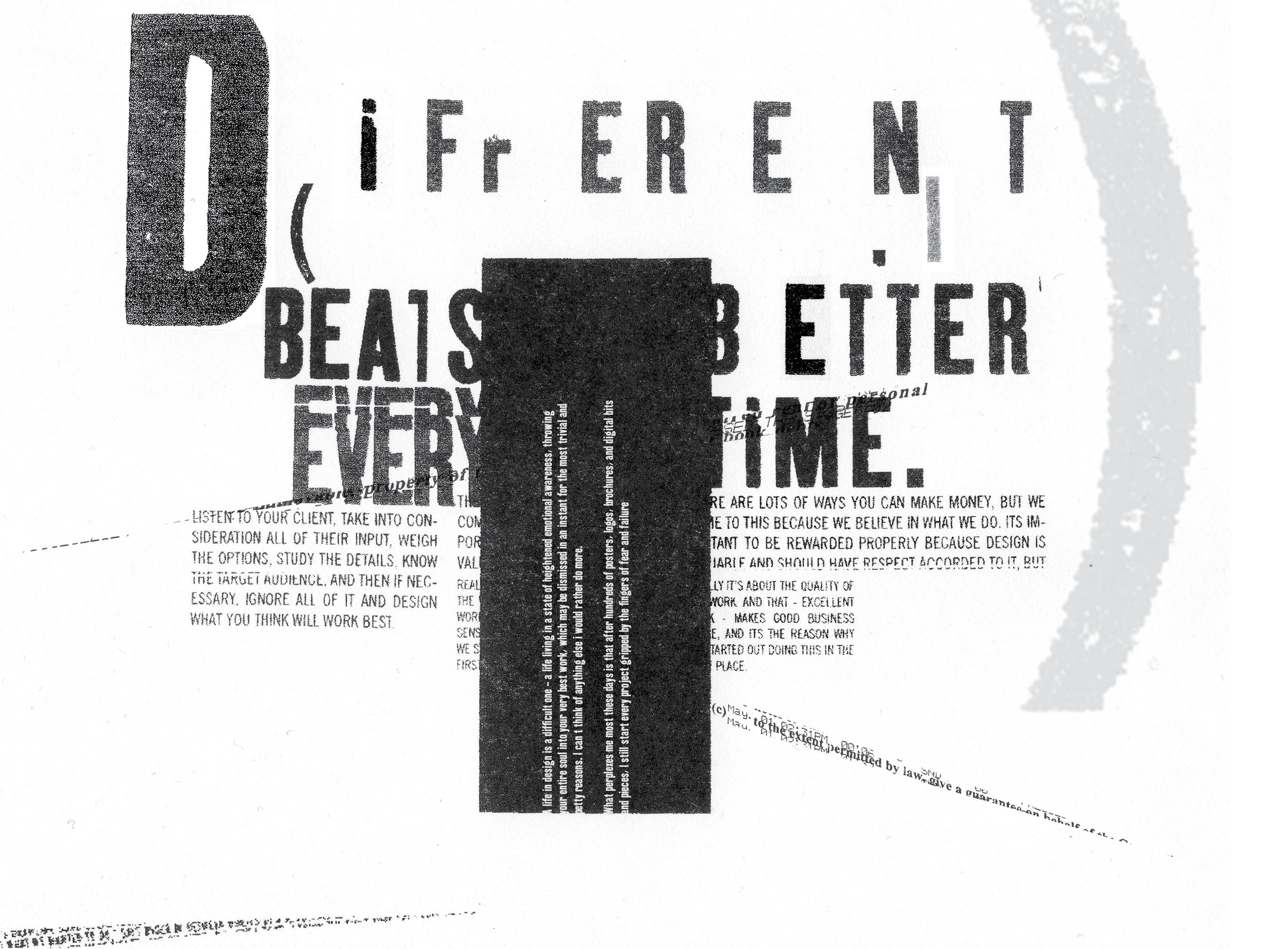 Different Beats Better Everytime