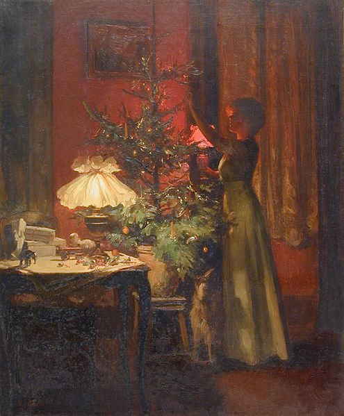 Decorating the Christmas Tree  - Marcel Rieder, 1898