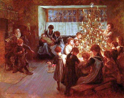 The Christmas Tree  - Albert Chevallier Tayler, 1911