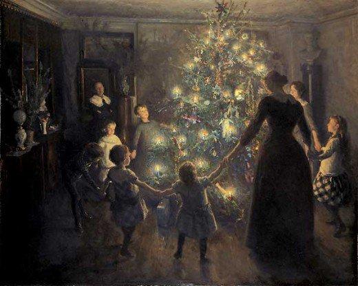 A Happy Christmas  - Viggo Johansen, 1891