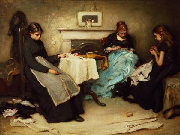 Seamstresses  - Frank Holl, 1875
