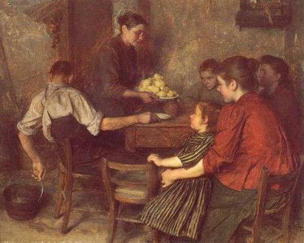 Le Repas Frugal  -  Emile Friant