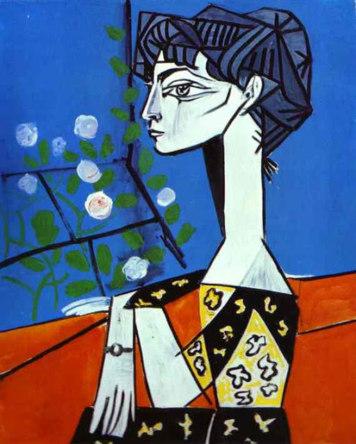 Jacqueline with Flowers - Picasso, 1954