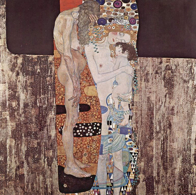 The Three Ages of Woman   - Gustav Klimt, 1905
