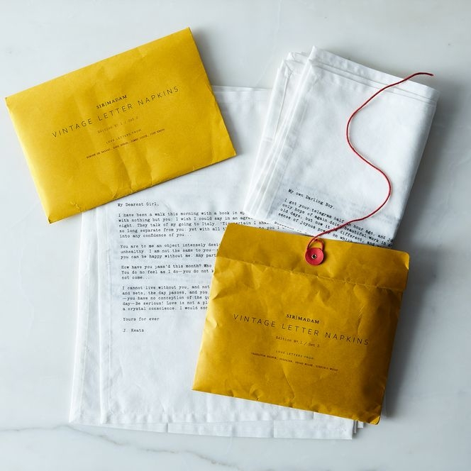 Image via Food 52 , where the Sir/Madame napkins are also available