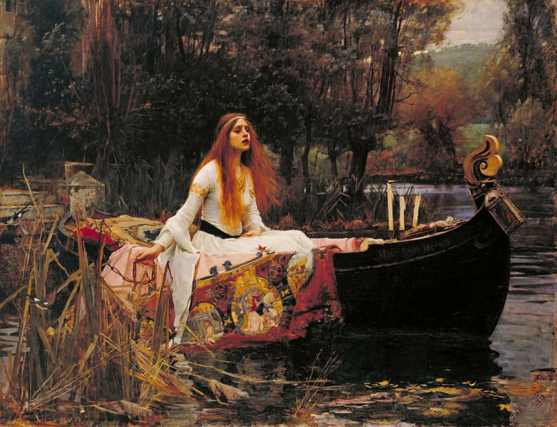 The Lady of Shallot  - John William Waterhouse, 1888