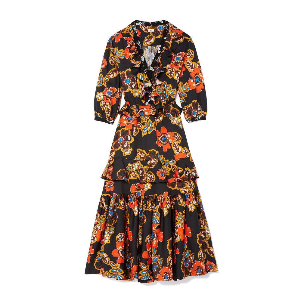 Batik Floral Dress - GOOP - $595