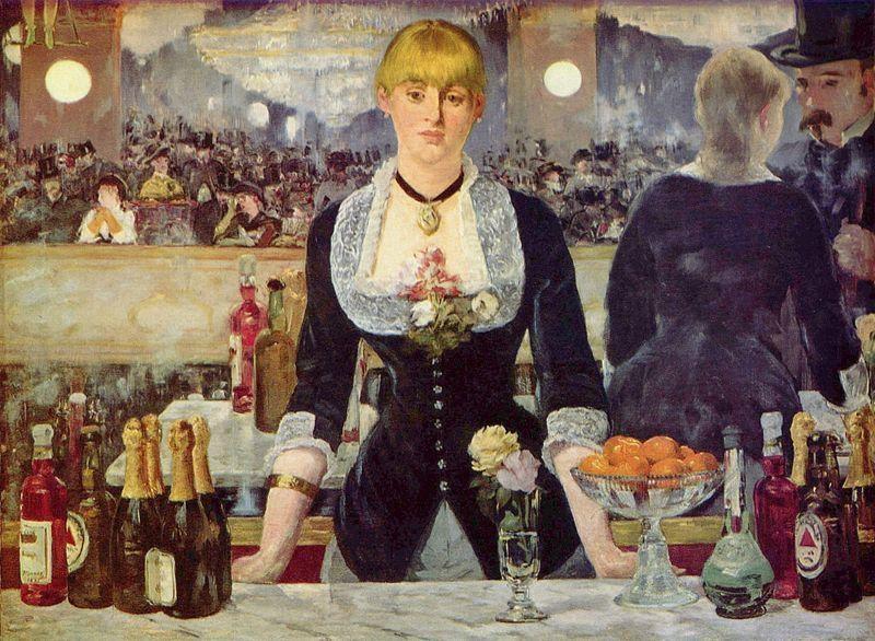 A Bar at the Folies-Bergere    - Manet, 1882