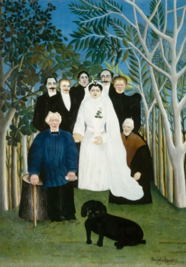 The Wedding Party   - Henri Rousseau, 1905