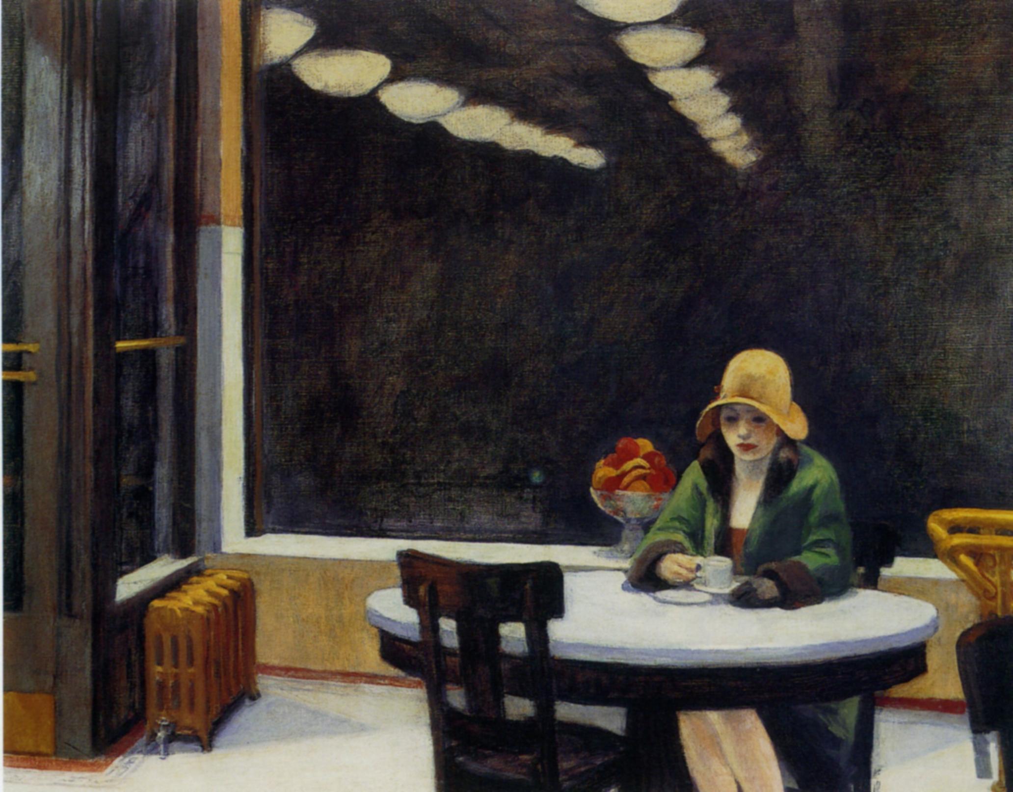 Automat  - Edward Hopper, 1927