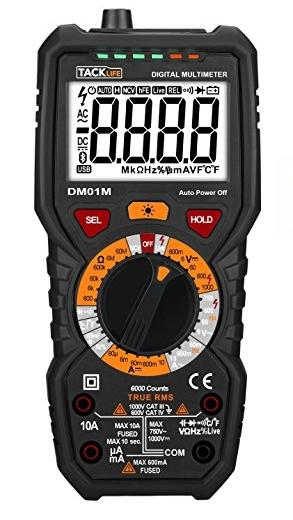Tacklife DM01M Digital Multimeter For Measuring Low Currents -