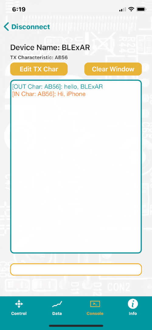 Serial Communication Between an iPhone and a Bluetooth-enabled Arduino Board -
