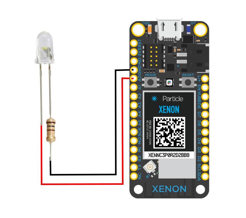Xenon Particle board LED wiring IoT node.png