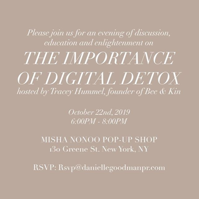 TONIGHT! #digitaldetox #wearabletech
