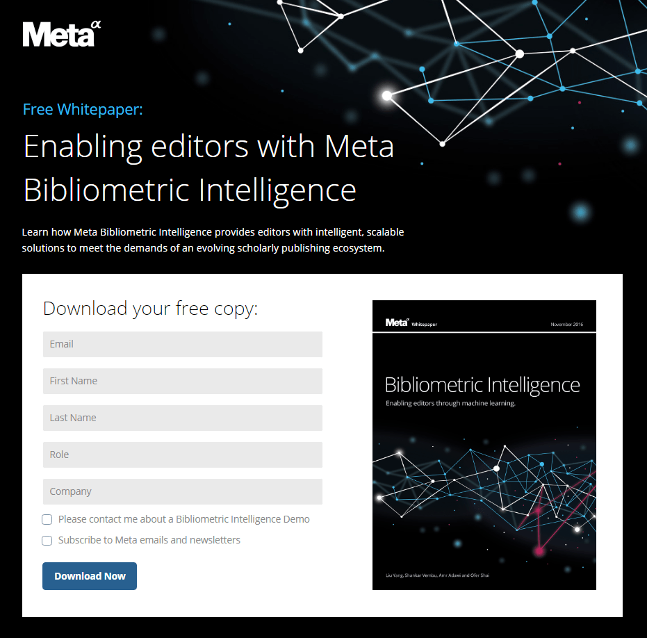 Meta has fewer form fields (although still a lot!) and breaks out separate permissions to receive updates (or not!) when users download the white paper.