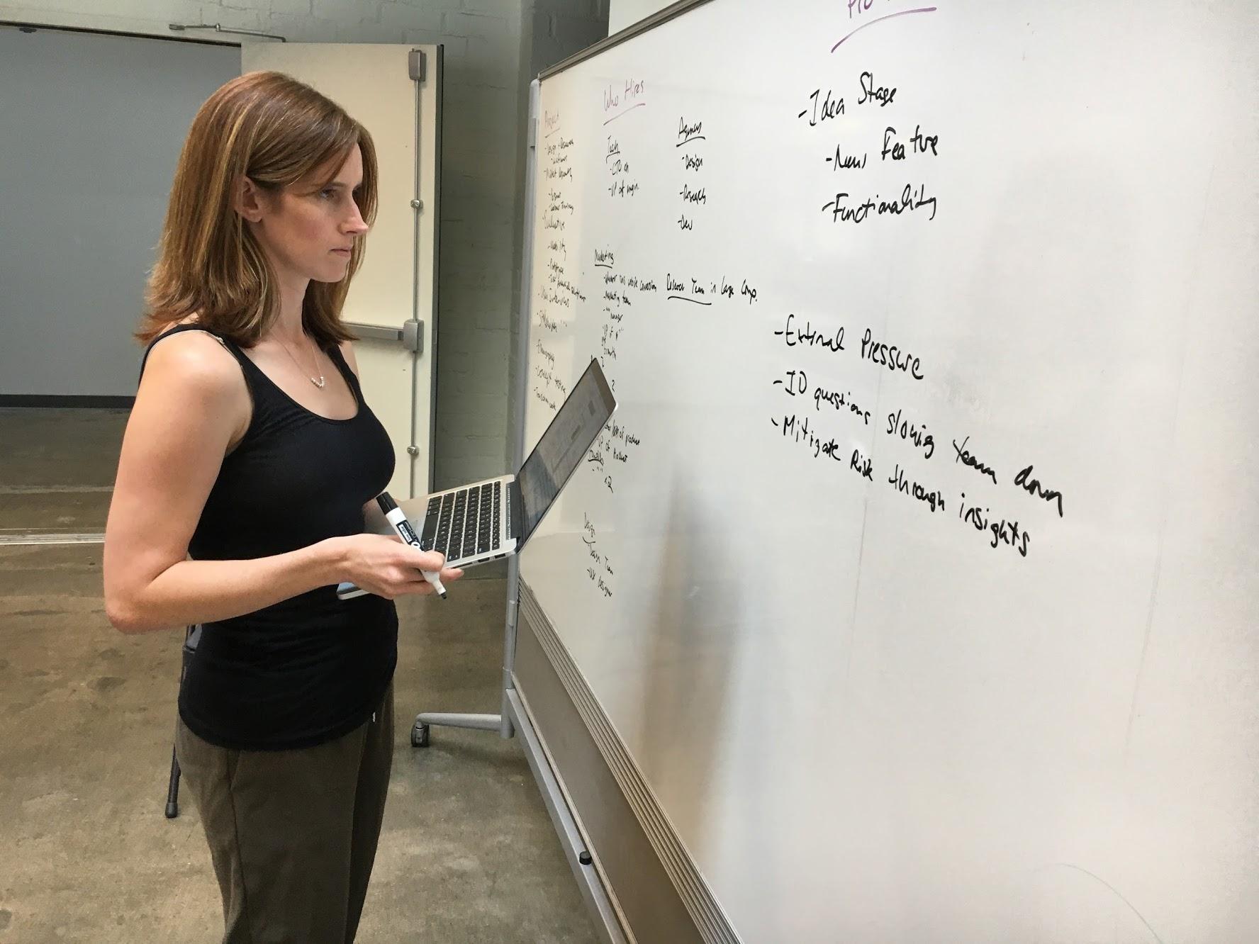 Sheana at Blackboard.JPG