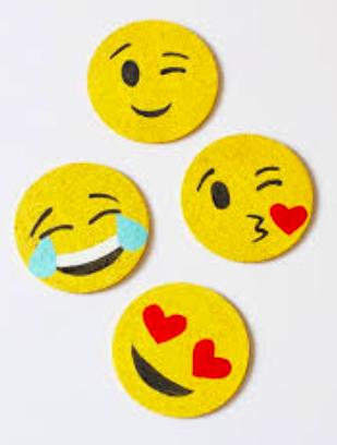 Emoji Tile Coaster Set -