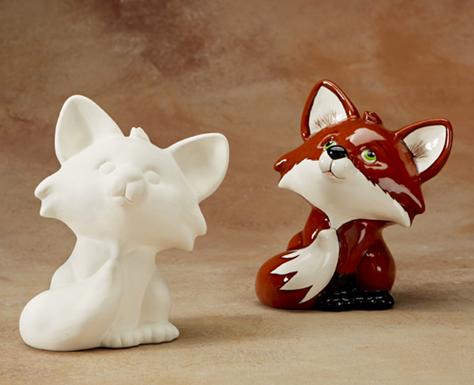 Painting Ceramic Fox -