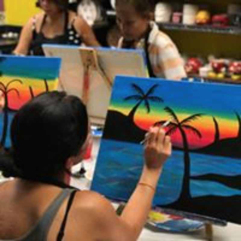 Introduction to Canvas - Challenge your inner artist by joining our step-by-step canvas class on Wednesday and Thursdays at 5:00P.M.-6:00P.M. Class includes a 12x12 canvas and all materials.