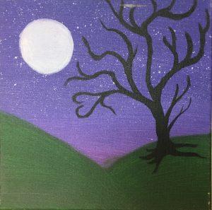 Moonlight Whimsical Tree