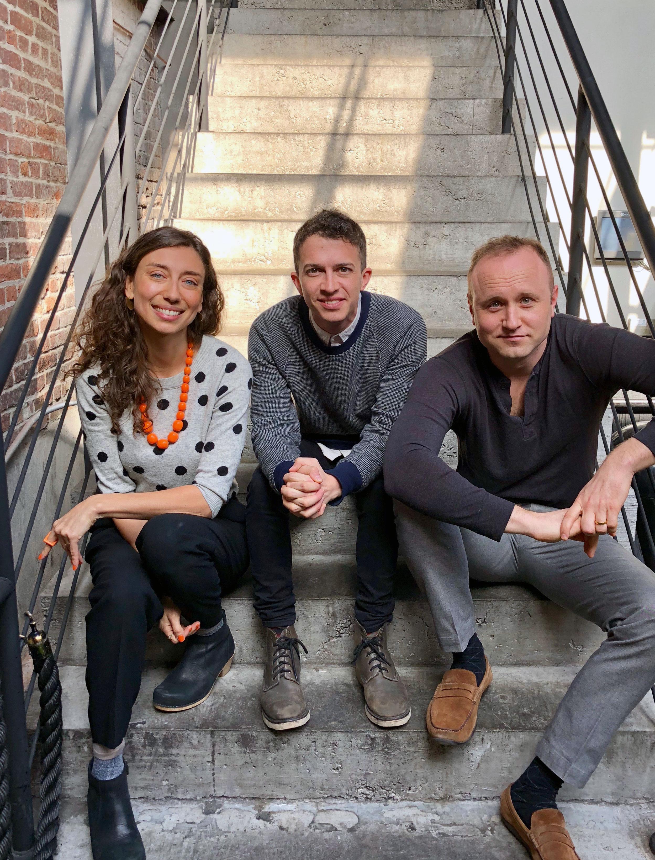 from left to right: founder Danielle Florio, partner Brett Moses, founder Mark Losinger