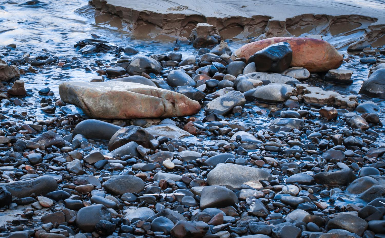 Eroding Tide  Oregon Coast