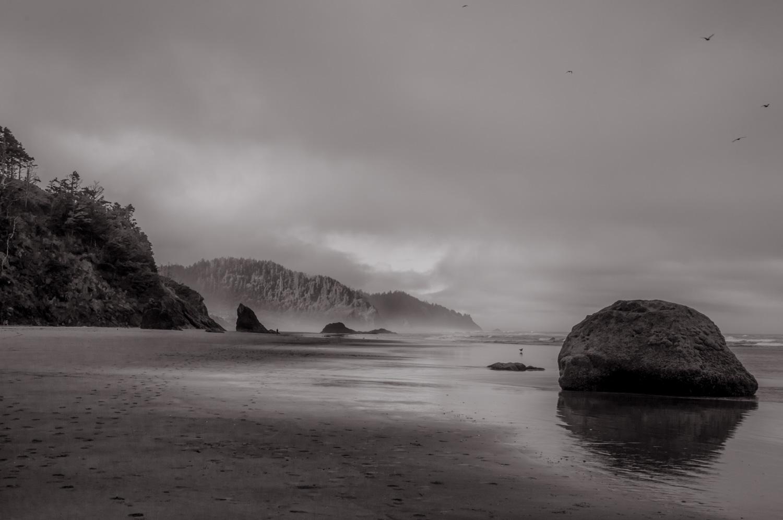 Past the Boulder   Oregon Coast