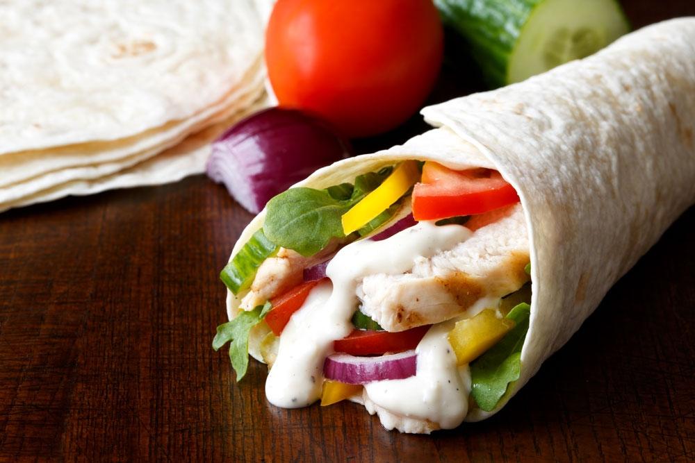 Turkey Tortilla Cones -
