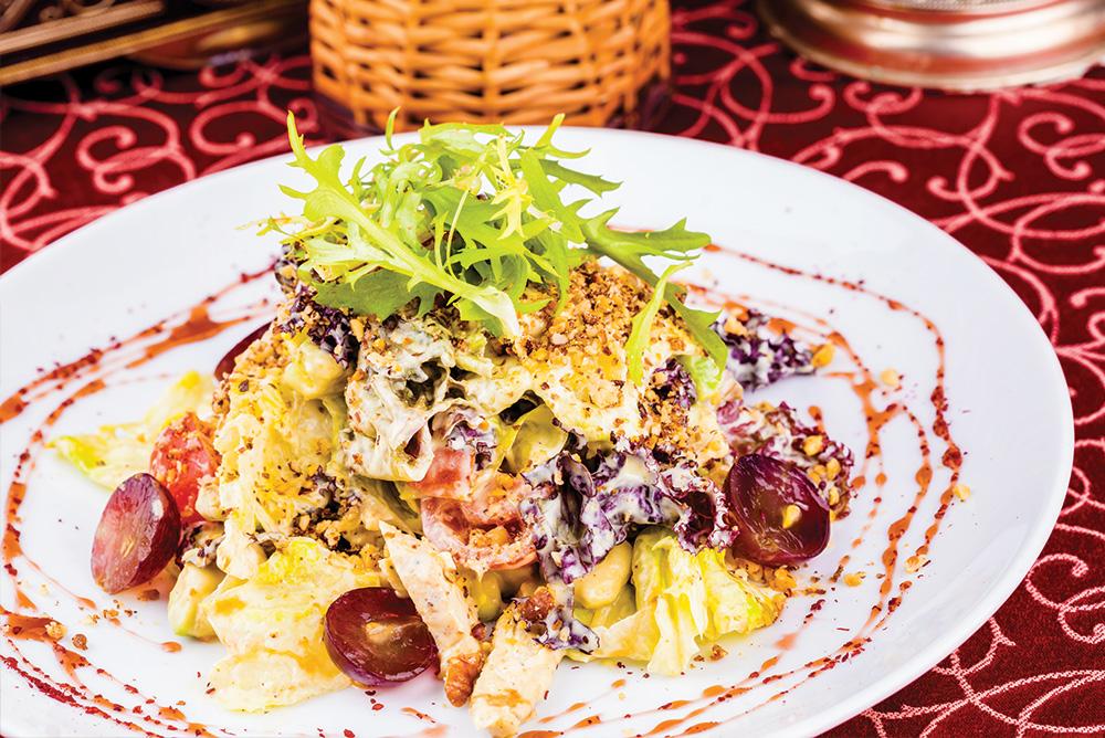 Curried Mango, Turkey and Walnut Salad -