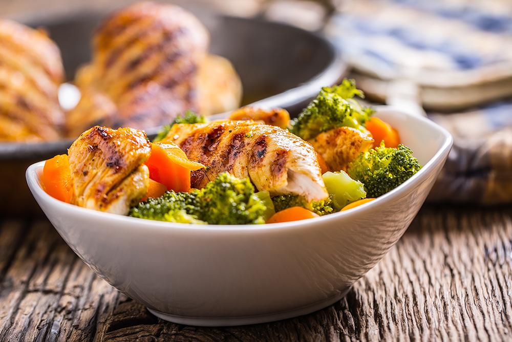 Turkey, Broccoli & Almond Salad -