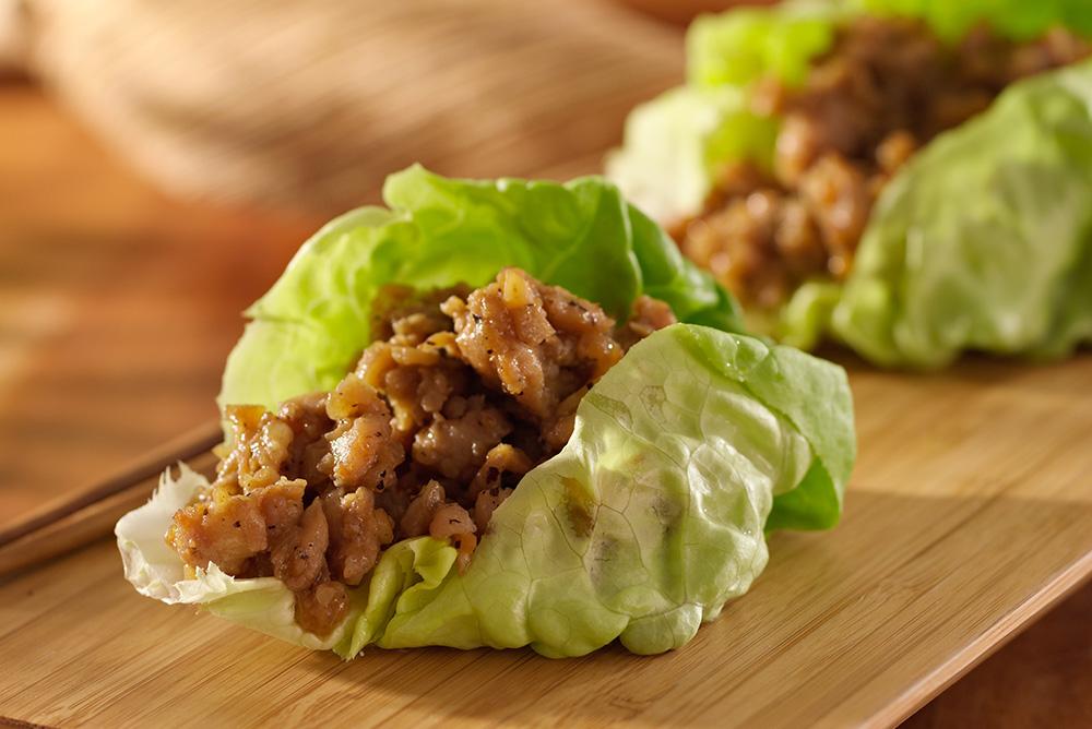 海鮮醬扁豆火雞生菜包 -