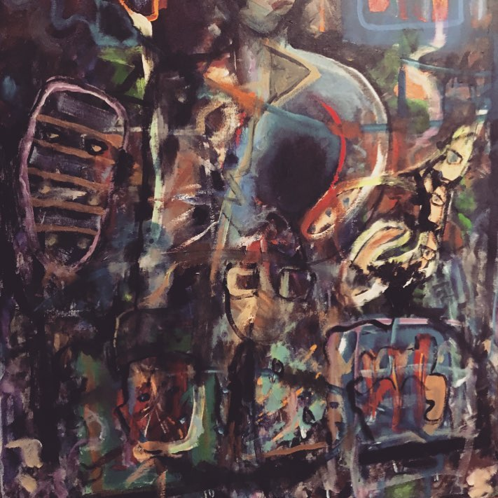 "John Eberly, ""Persephone's Husband"" Acrylic on canvas, 2017"