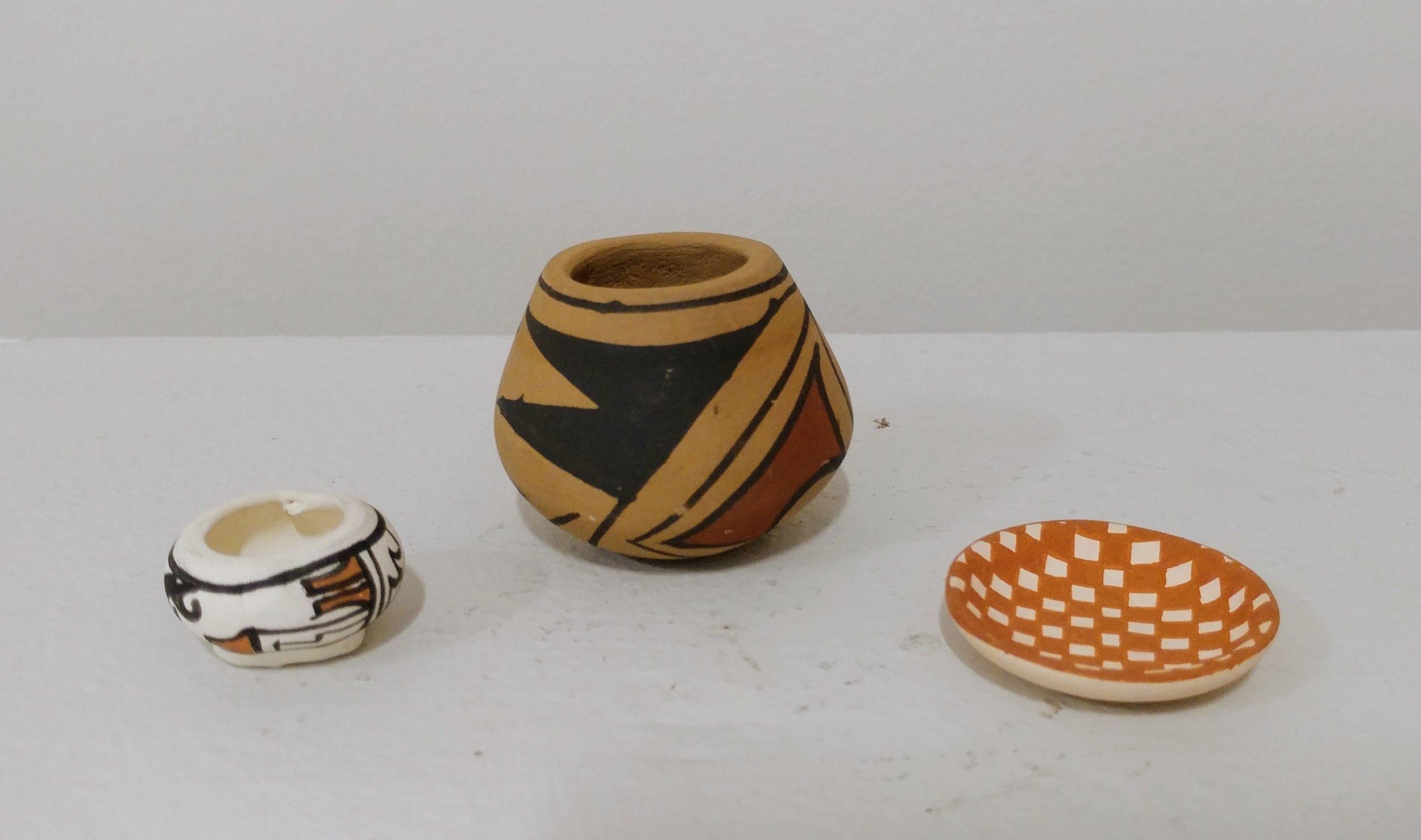 85. Navajo Pottery Miniatures