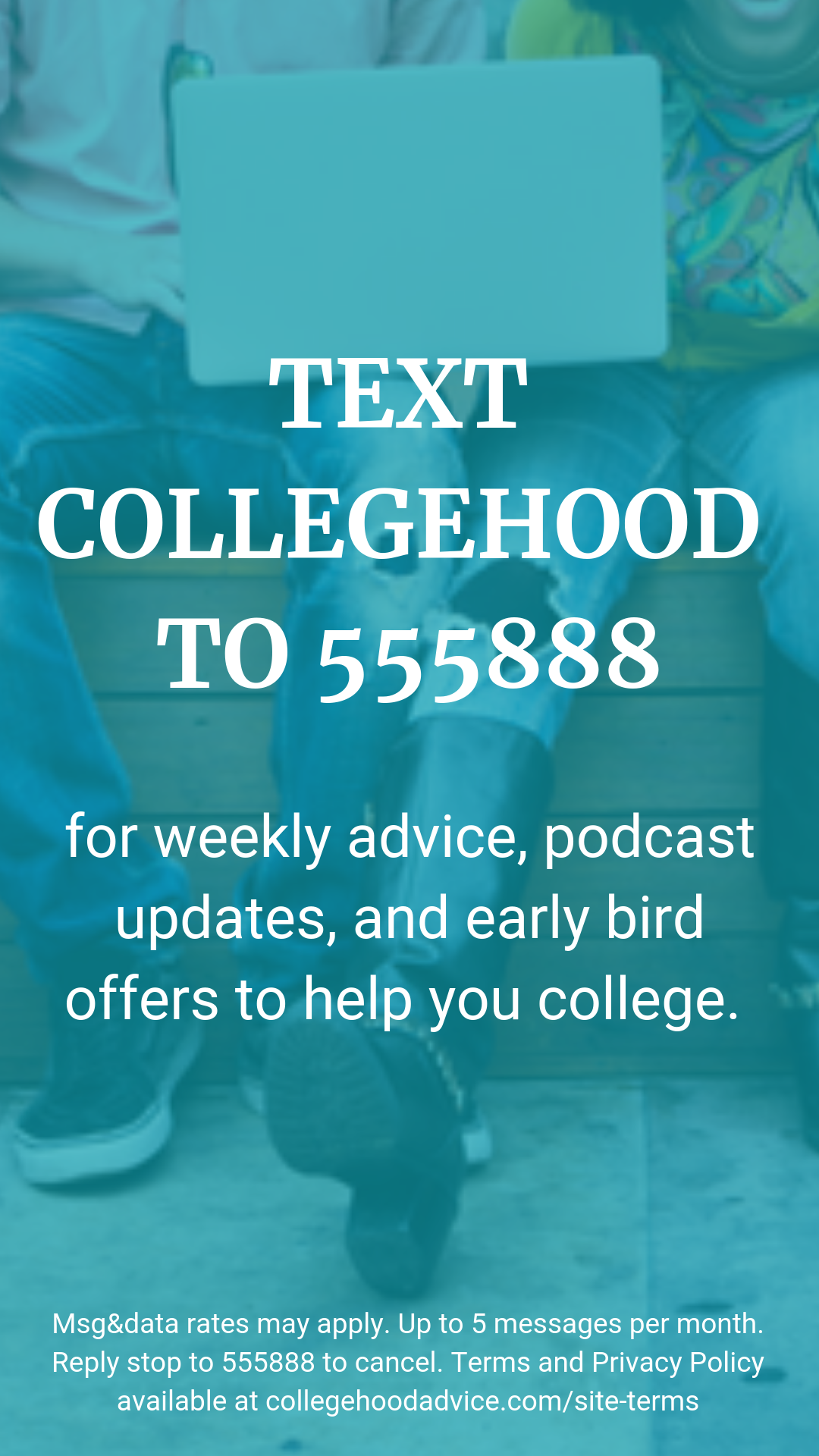 TEXT COLLEGEHOOD TO 555888.png
