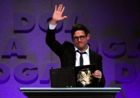 Eric accepts a DGA award for The Boy Who Cried Werewolf