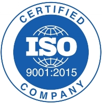 We are proud to be certified for ISO9001:2015.