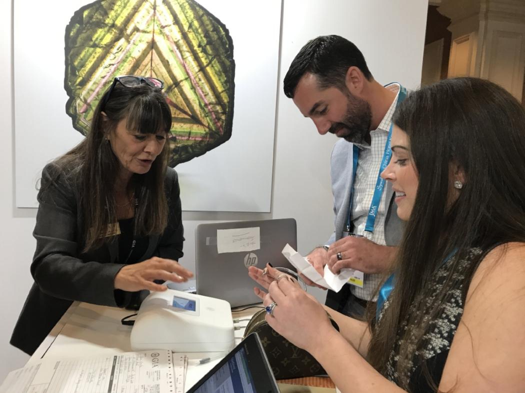 Ada Diamonds founders Lindsay Reinsmith and Jason Payne at JCK Las Vegas
